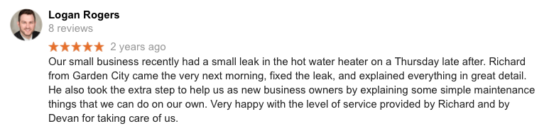 21 Missoula Montana Plumbing Google Review