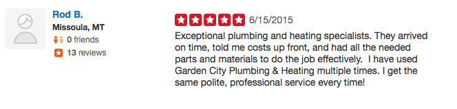 24 Missoula Montana Plumbing Review on Yelp